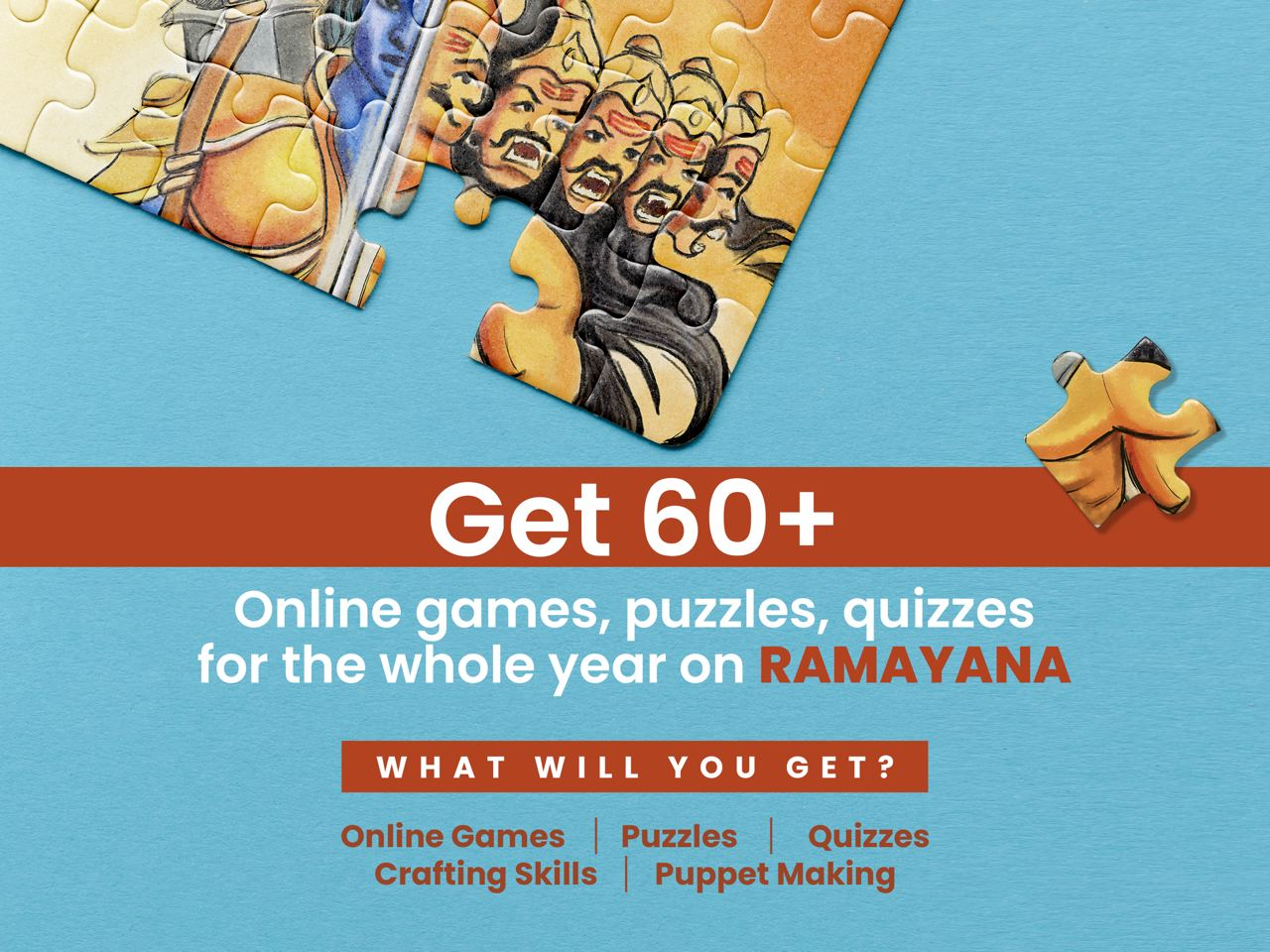 60+ Online Games, Puzzles, Quizzes for the whole year on Ramayana